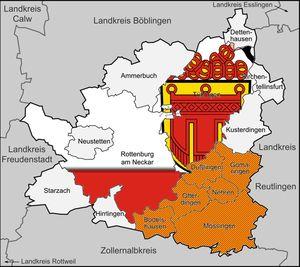 Gebit des Kreisverbands Tübingen